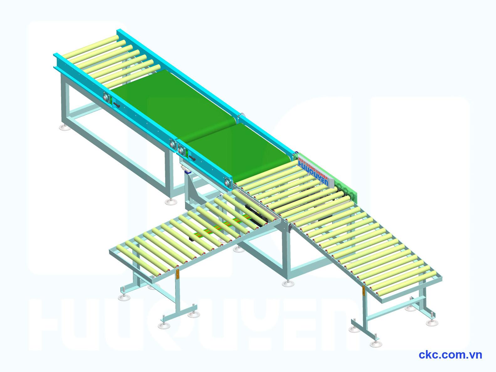 Hệ thống cân kiểm tra phân loại sản phẩm dạng băng tải con lăn