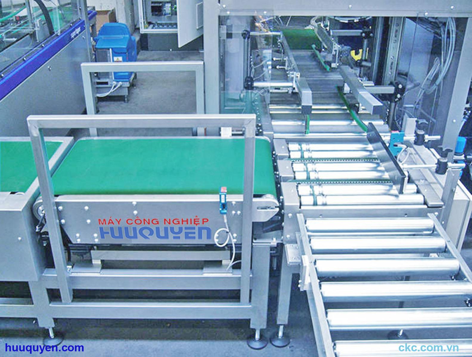 Hệ thống cân băng tải kiểm tra và cơ cấu phân loại sản phẩm dạng con lăn