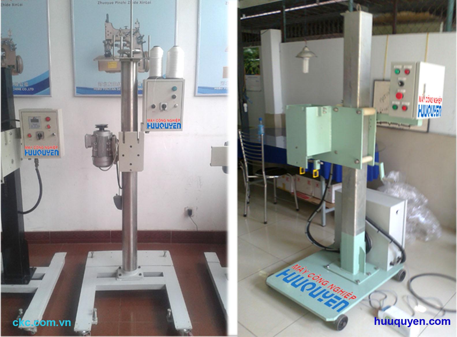 Trụ đỡ và tủ điều khiển tự động cho máy khâu miệng bao công nghiệp