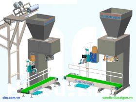 Mô hình máy đóng gói phân vi sinh phân hữu cơ công nghiệp