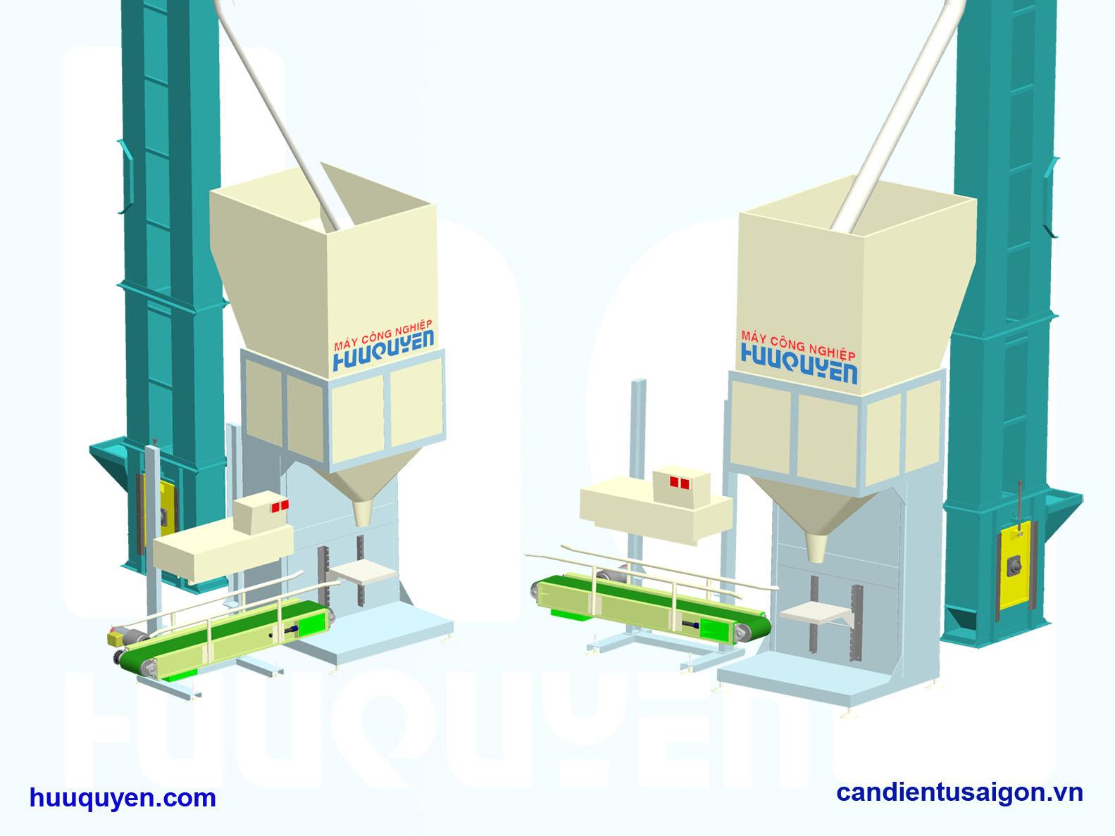 cân đóng gói đóng túi gạo đường nông sản hạt rời công suất tới 1000 túi/giờ