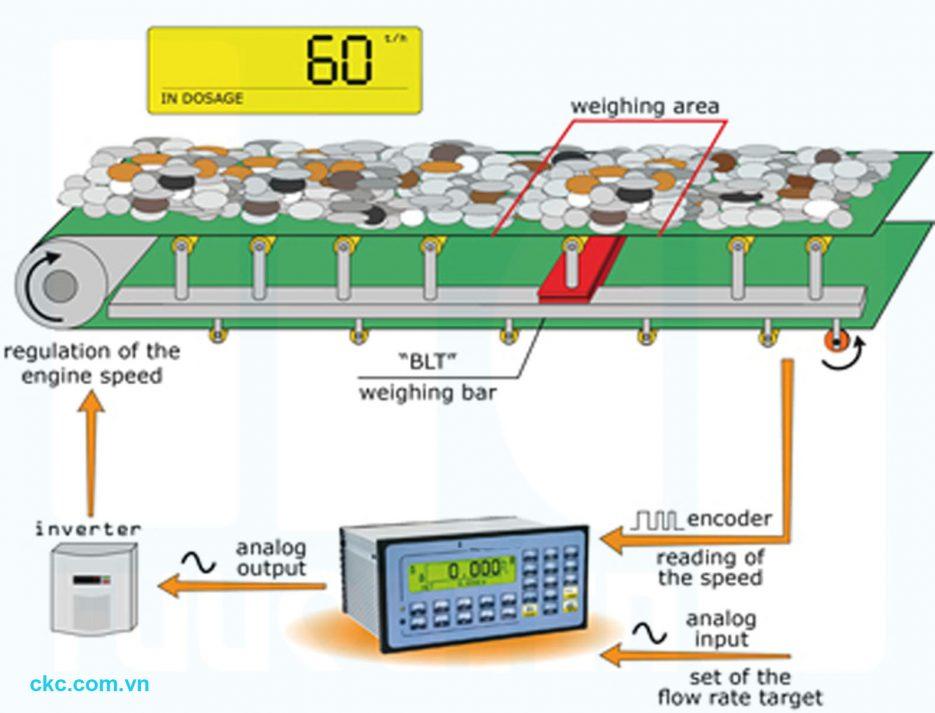 Thiết bị chính trong định lượng phối trộn băng tải